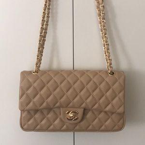 CHANEL purse TAN